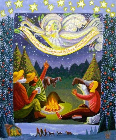 Shepherds, 2011, James B Janknegt, acrylic on paper