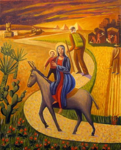 The Flight into Egypt, 2008, James B Janknegt, oil on canvas