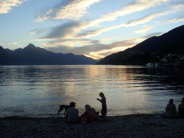 Lake Wakatipu, on our last evening in Queenstown.