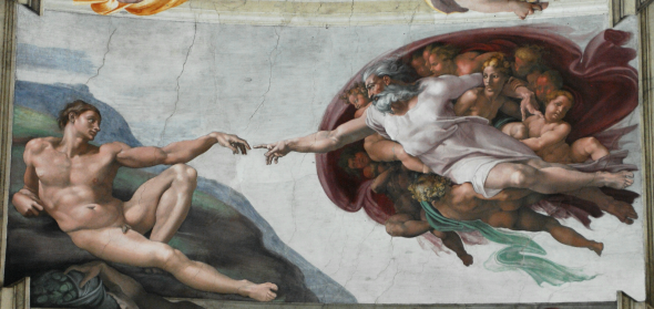 Detail from Creation of Adam, Michelangelo, Sistine Chapel