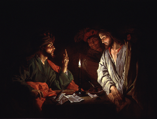 Jesus and Caiaphas, Matthias Stom