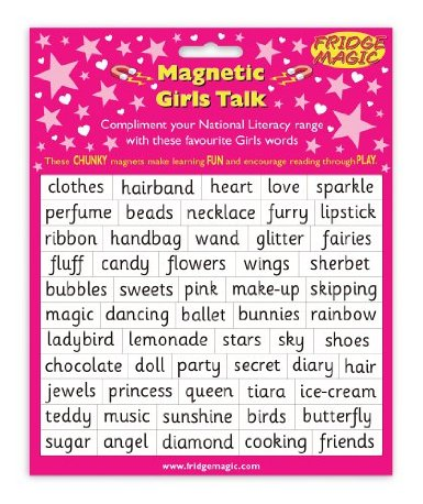 magnetic girls talk, gendered language, stupid toys, Christian parenting, feminist parenting