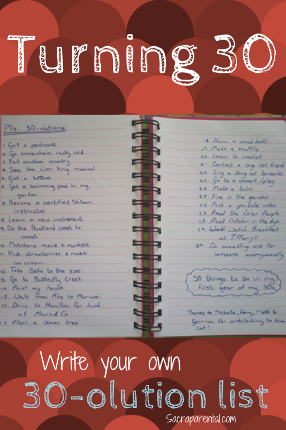 birthday resolution list, list of things to do when you turn 30