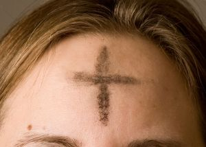 Ash Wednesday imposition of ashes on forehead, Ash Wednesday cross on forehead, Christian parenting, Lent for kids
