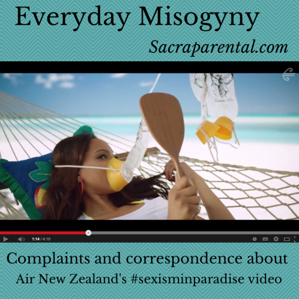complaining to the Advertising Standards Authority, ASA complaints process, Air New Zealand safety video, sexism in paradise, #sexisminparadise, objectification of women