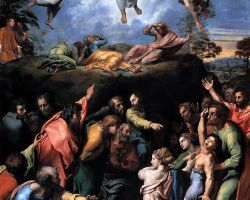 Lent with kids, Transfiguration and kids, Christian parenting, looking at art with kids