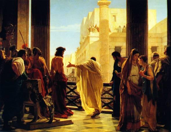 Antonio Ciseri, Ecce Homo | Pilate's Wife poem by Carol Ann Duffy | Sacraparental.com