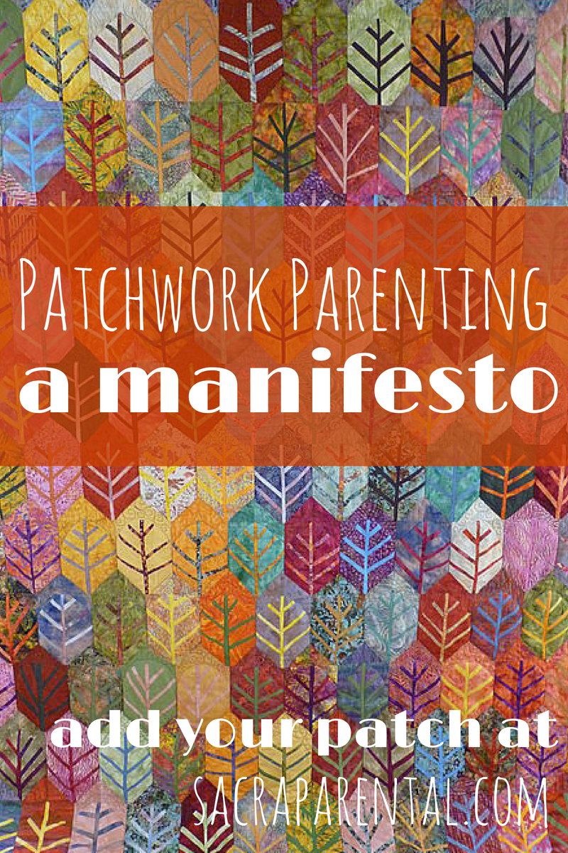 What parenting ideas can you contribute to our patchwork quilt?   Sacraparental.com   Indian Summer quilt by Bernadette Mayr