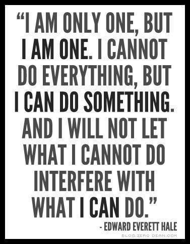 I am only one, but I AM ONE | Sacraparental.com
