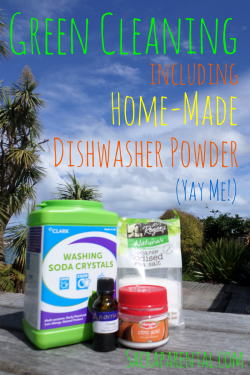 Green Cleaning! Including - gasp! - home-made dishwasher powder   Sacraparental.com   #green #cleaning #home made #dishwasher detergent