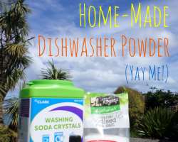 Green Cleaning! Including - gasp! - home-made dishwasher powder | Sacraparental.com | #green #cleaning #home made #dishwasher detergent
