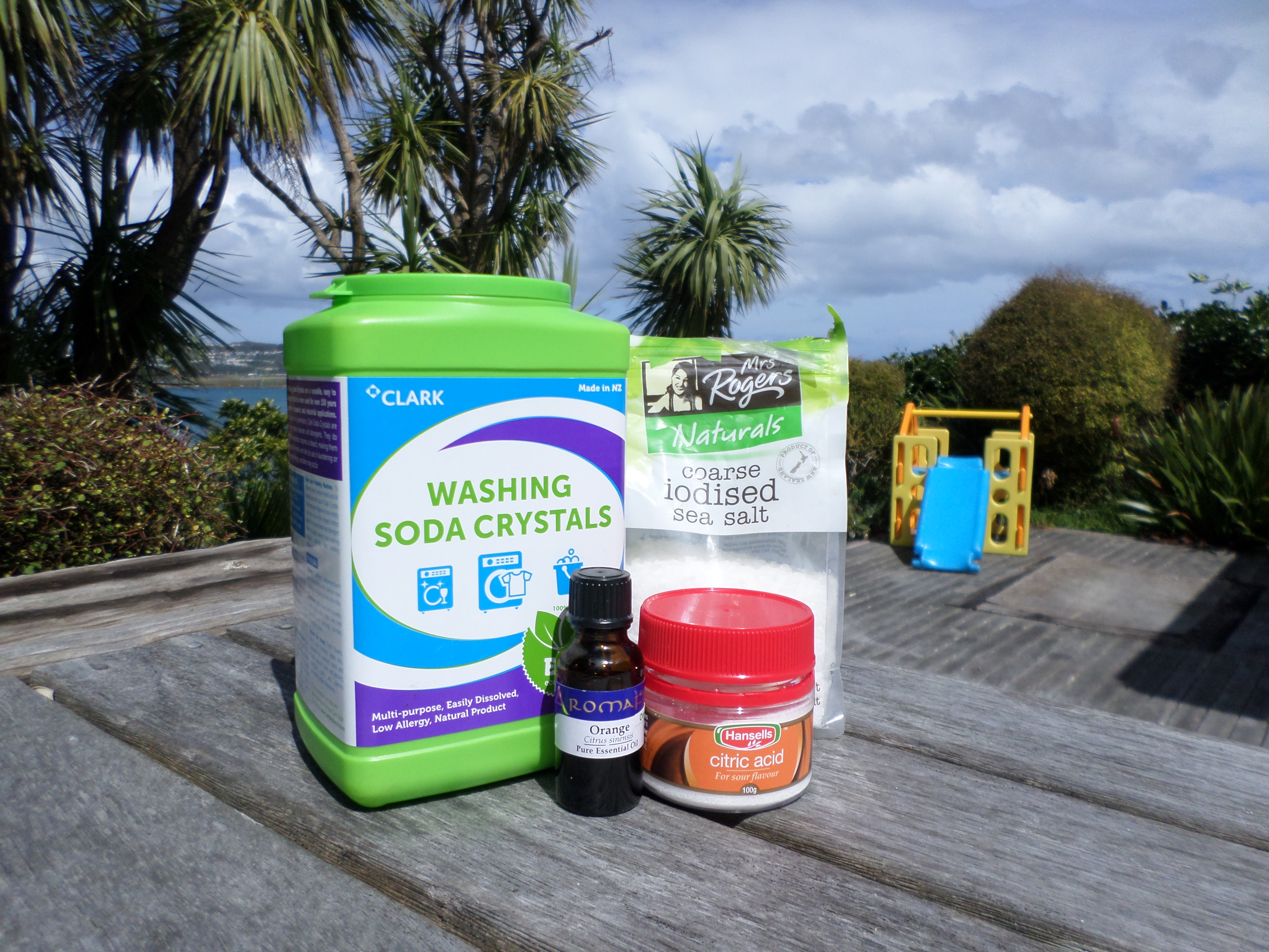 Ingredients for home-made dishwasher detergent   Sacraparental.com