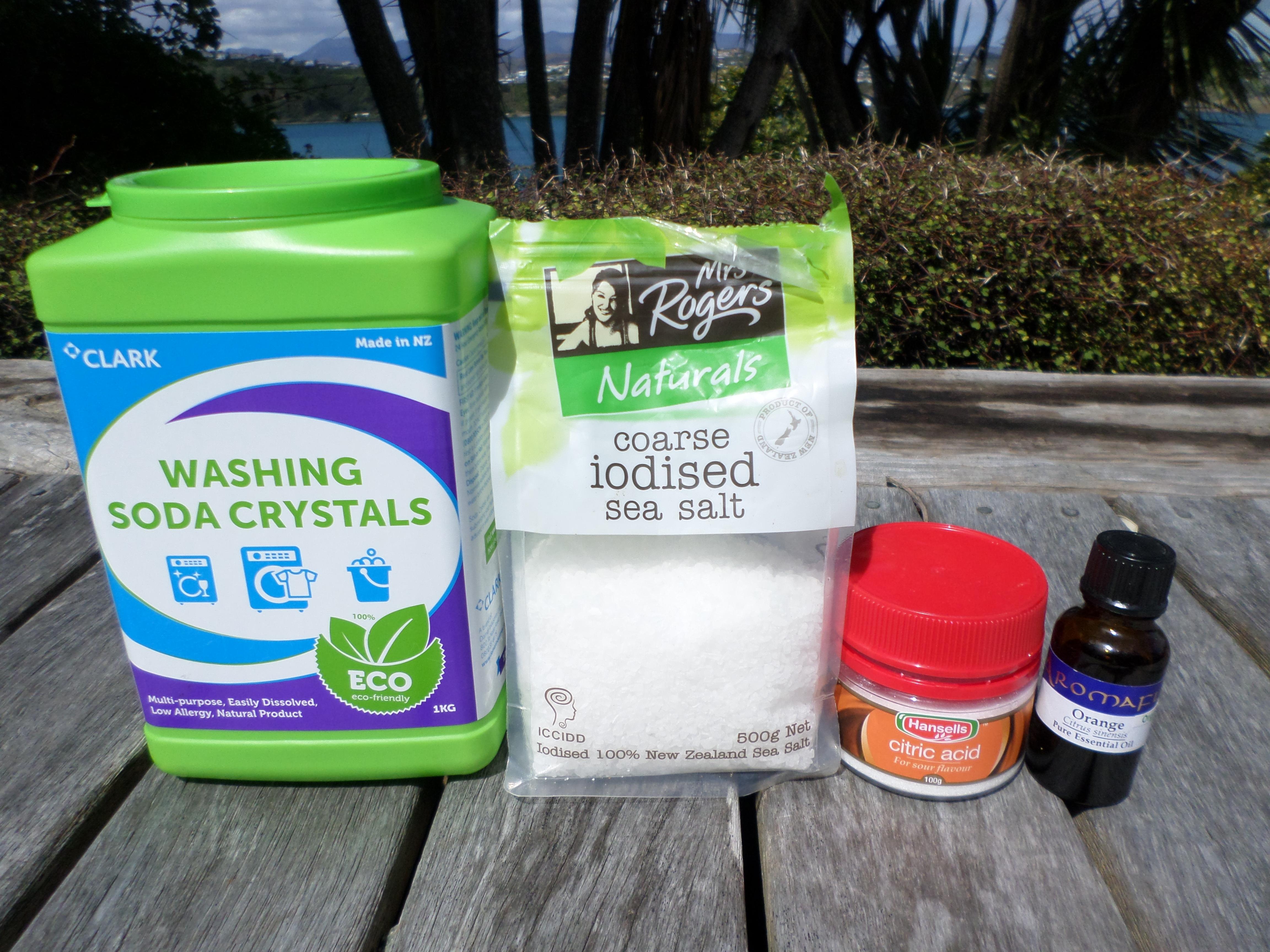 Ingredients for home-made dishwasher powder   Sacraparental.com