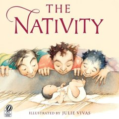 Christmas picture books featuring Baby Jesus: one of my favourite kids' picture books for Christmas: The Nativity, Julie Vivas | Sacraparental.com