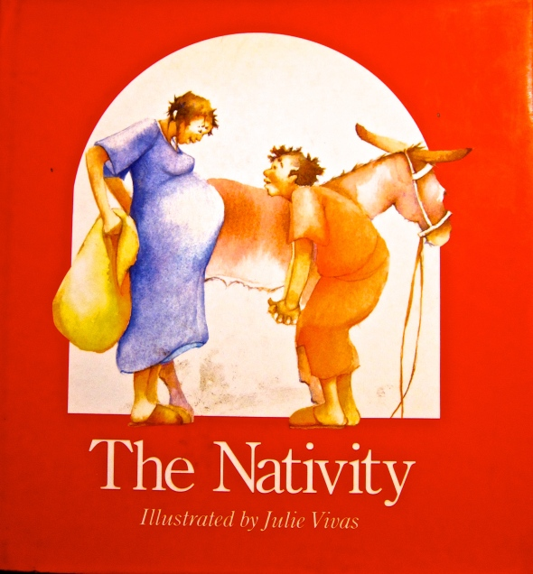 Advent with Kids: one of my favourite kids' books for Christmas: The Nativity, Julie Vivas | Sacraparental.com