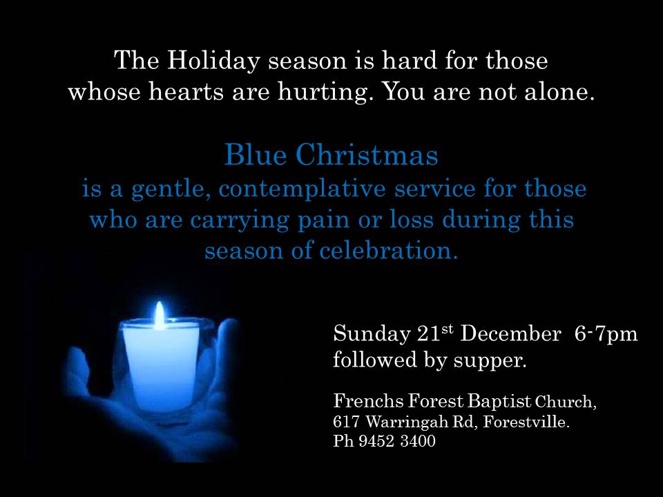 A Blue Christmas Service: If You're Hurting at Christmas ...