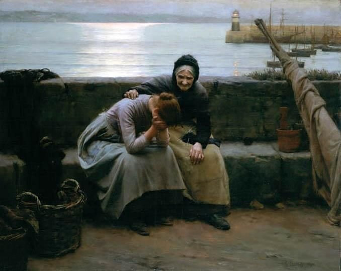Blue Christmas: an online service for those grieving | Sacraparental.com | Walter Langley, Never Morning Wore to Evening but Some Heart Did Break