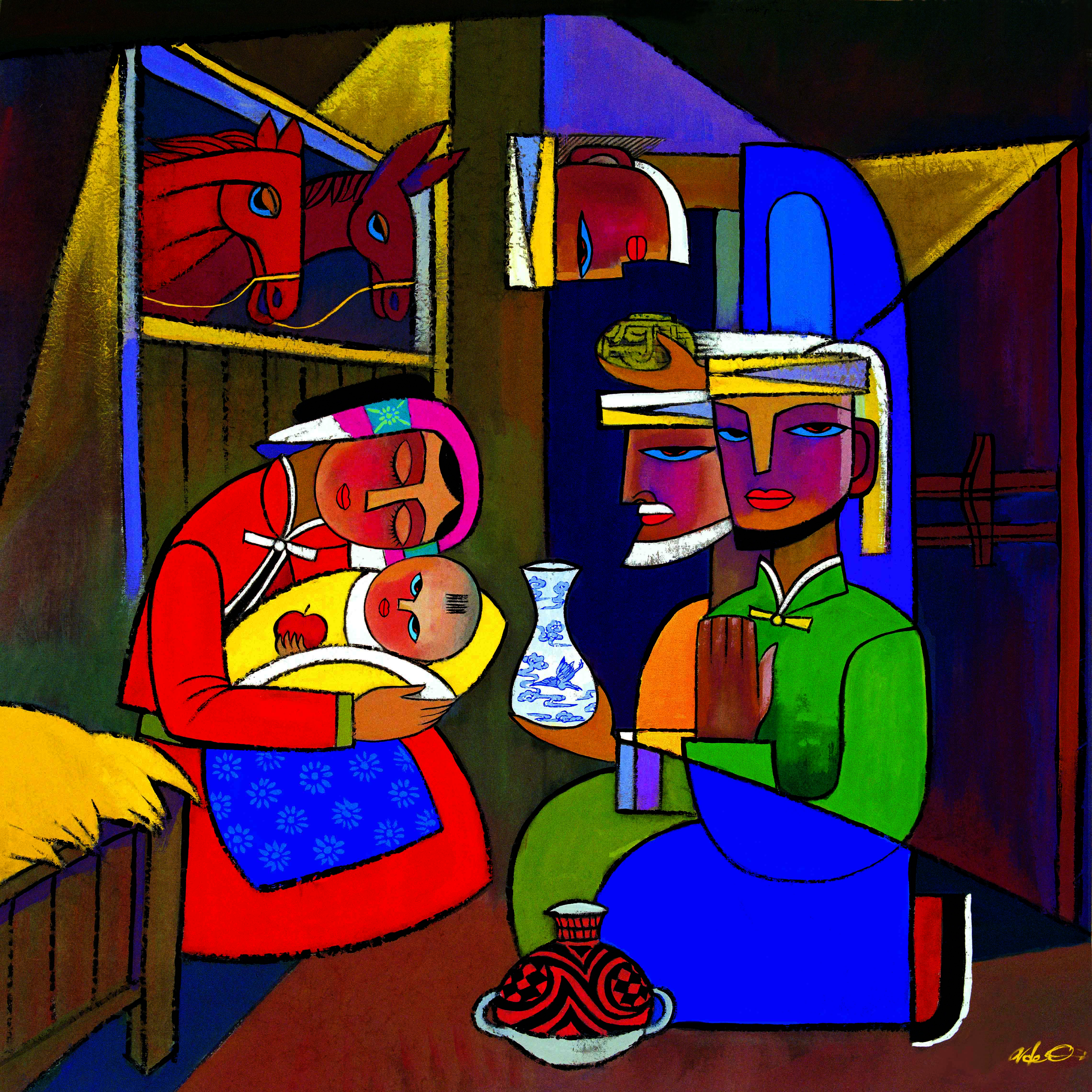 A guided nativity reflection based on He Qi's painting The Magi   Sacraparental.com